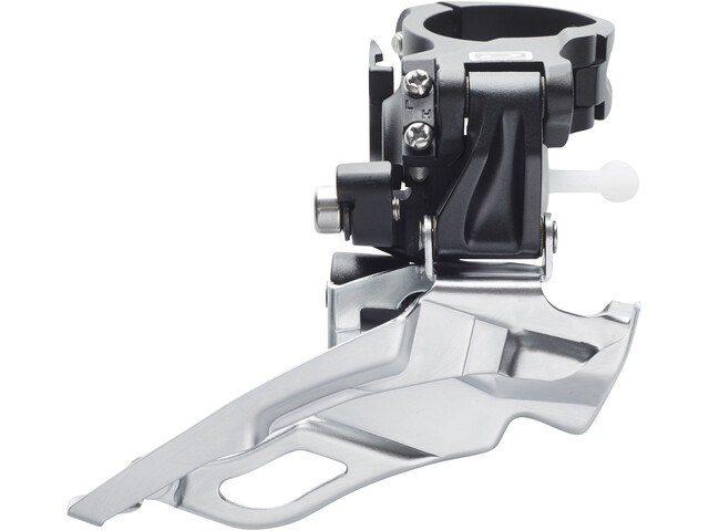 Shimano Deore FD-M611 Forskifter 3x10-speed hurtig dual-pull sort/sølv (2019) | Front derailleur